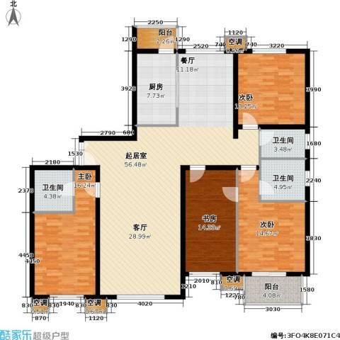 首开知语城4室0厅3卫1厨182.00㎡户型图
