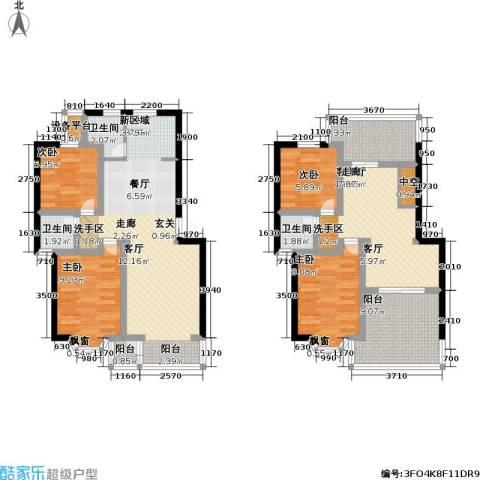 印象江南・太扬家园4室2厅3卫0厨114.00㎡户型图