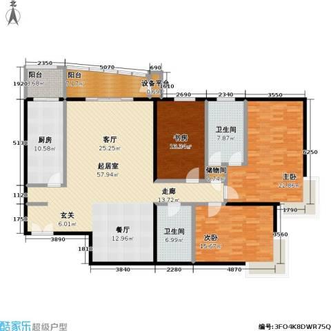 甲方乙方(日月天地)3室0厅2卫1厨195.00㎡户型图