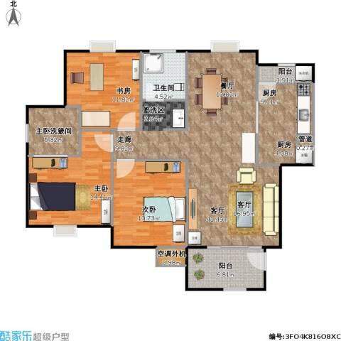 怡和花园3室1厅1卫1厨149.00㎡户型图