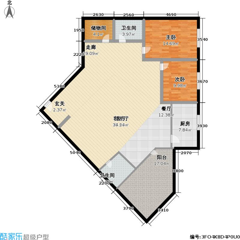 国宾大厦154.00㎡3室2厅2卫1厨户型