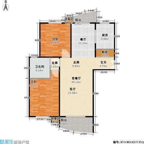 真情公寓(三期)2室1厅1卫1厨112.00㎡户型图
