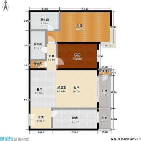 甲方乙方(日月天地)2室0厅2卫1厨142.00㎡户型图