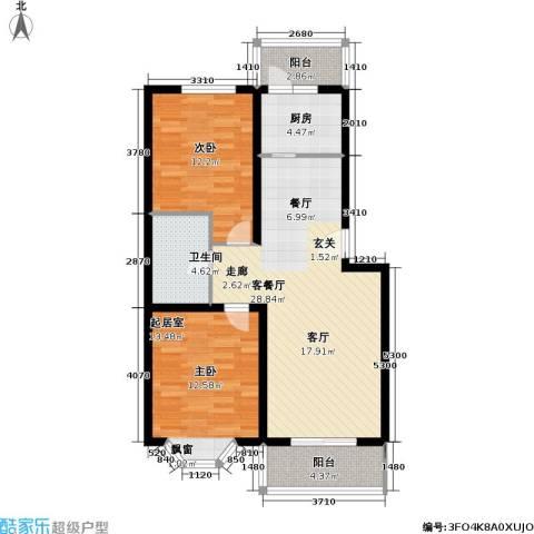 颐和山庄1室1厅1卫1厨81.00㎡户型图