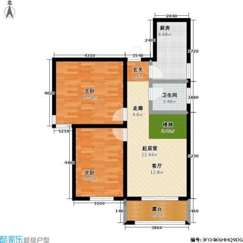 嘉汇・凯旋花园2室0厅1卫1厨92.00㎡户型图