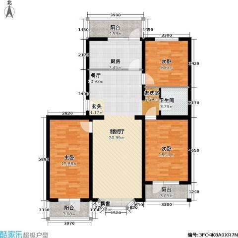 颐和山庄3室1厅1卫1厨111.00㎡户型图