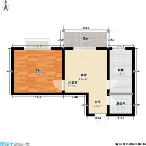 嘉汇・凯旋花园1室0厅1卫1厨69.00㎡户型图