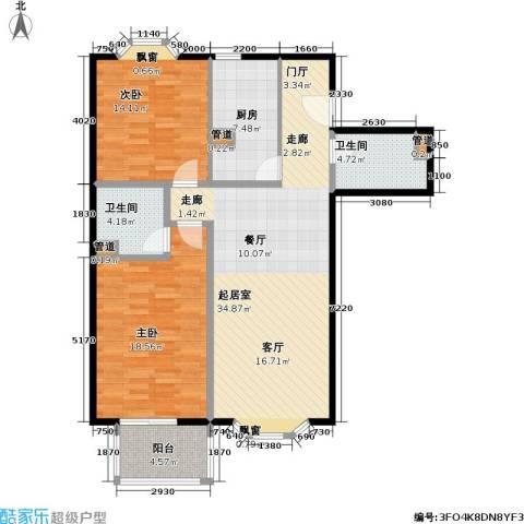 水岸长桥(长安星园)2室0厅2卫1厨100.00㎡户型图