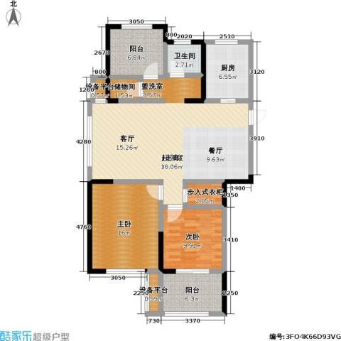 金色领寓2室0厅1卫1厨107.00㎡户型图