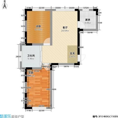 九新雾凇水岸2室1厅1卫1厨79.00㎡户型图