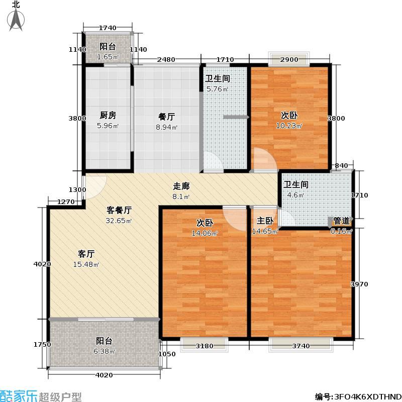 金沙嘉年华二期104.00㎡房型: 三房; 面积段: 104 -132 平方米; 户型