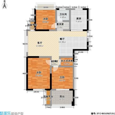 金色领寓3室0厅1卫1厨108.00㎡户型图
