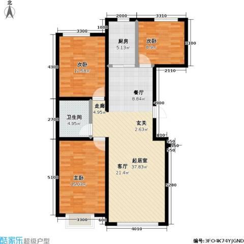 幸福港湾3室0厅1卫1厨119.00㎡户型图