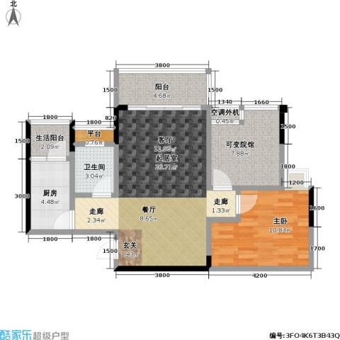 渝能幸福山房1室0厅1卫1厨70.34㎡户型图