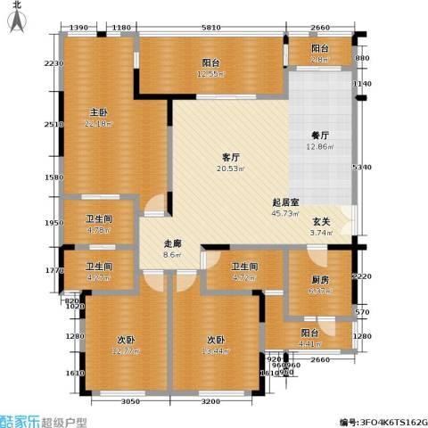 鸥鹏兰亭别院3室0厅3卫1厨146.00㎡户型图