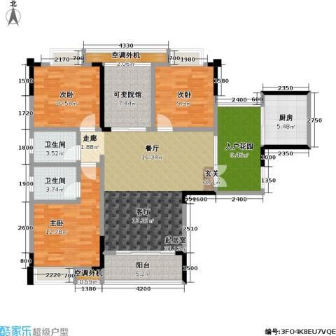 渝能幸福山房3室0厅2卫1厨115.78㎡户型图