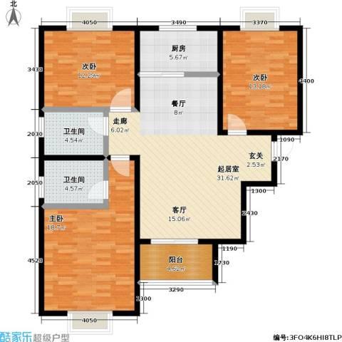 嘉汇・凯旋花园3室0厅2卫1厨135.00㎡户型图