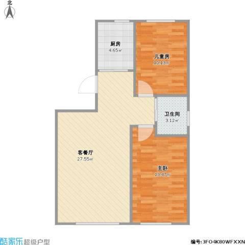 青旅福润家园2室1厅1卫1厨79.00㎡户型图