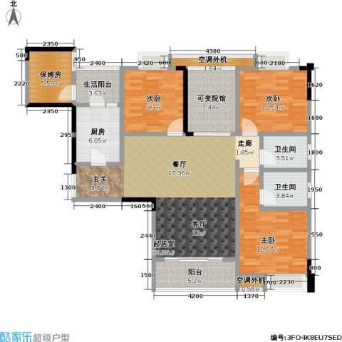 渝能幸福山房3室0厅2卫1厨120.57㎡户型图
