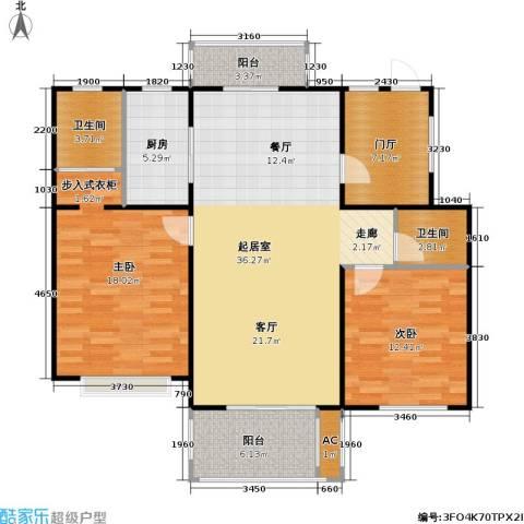 新凤凰城一期2室0厅2卫1厨100.00㎡户型图