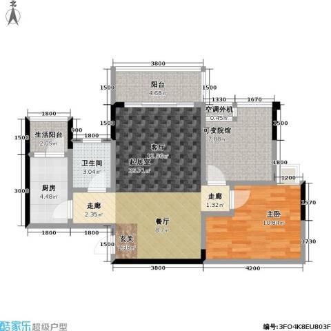 渝能幸福山房1室0厅1卫1厨69.14㎡户型图