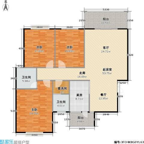 锦天・生态城3室0厅2卫1厨148.79㎡户型图