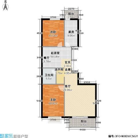 枫南世嘉(亚飞小区)2室0厅1卫1厨118.00㎡户型图
