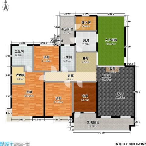 渝能幸福山房4室0厅2卫1厨211.85㎡户型图