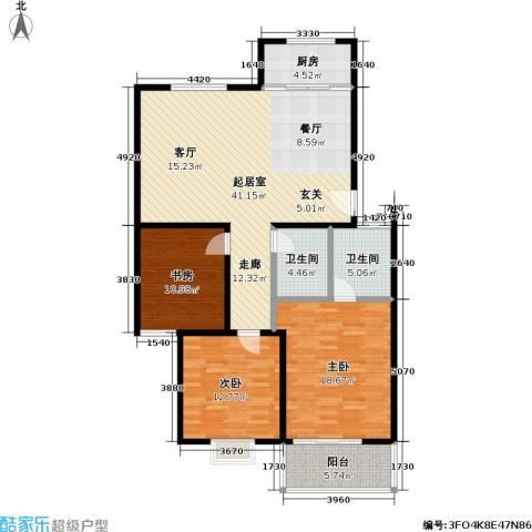 锦绣中华3室0厅2卫1厨116.00㎡户型图