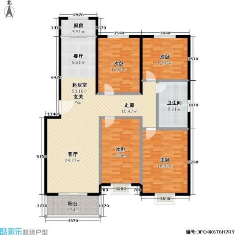锦绣中华4室0厅1卫1厨148.00㎡户型图