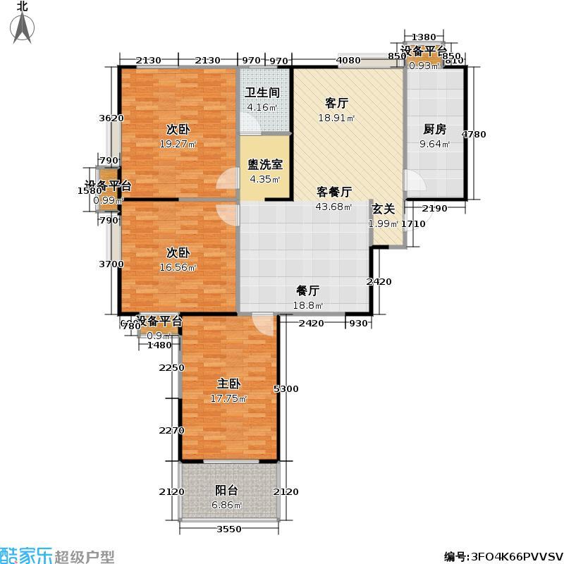 元丰宜家129.00㎡元丰宜家户型图129平米(2/2张)户型10室