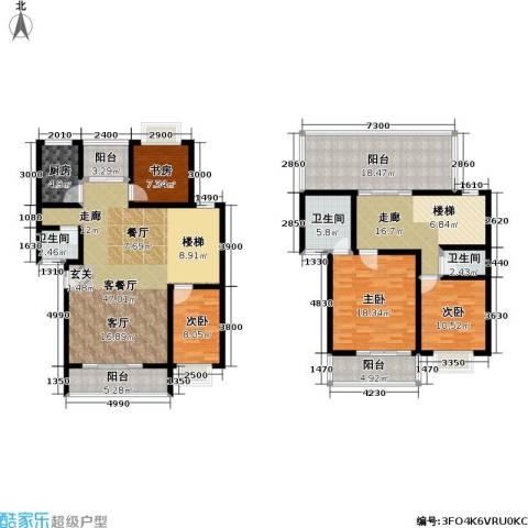 合顺景苑4室1厅3卫1厨224.00㎡户型图