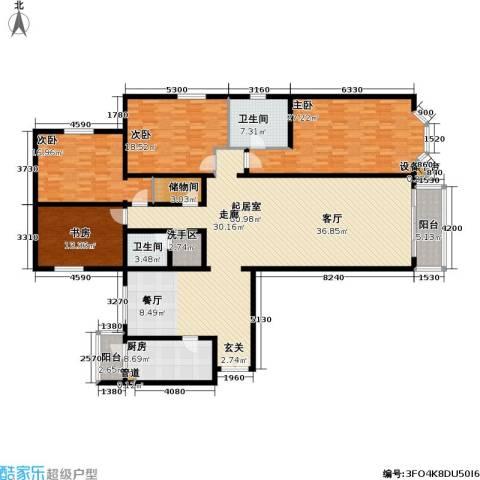 龙岳洲大厦4室0厅2卫1厨212.00㎡户型图