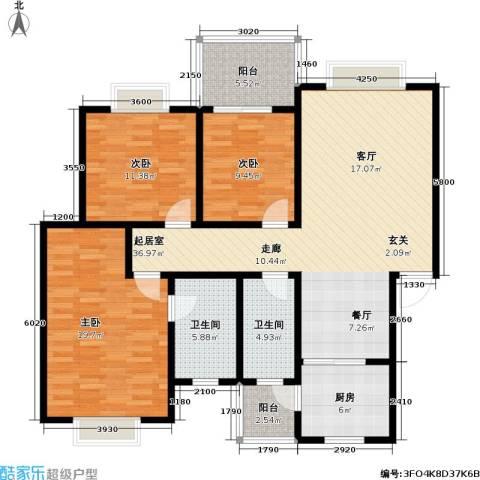绵阳龙门古镇3室0厅2卫1厨144.00㎡户型图
