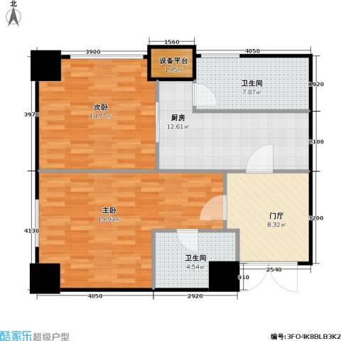 融寓2室0厅2卫1厨75.36㎡户型图