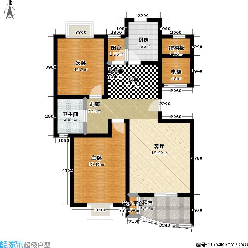 嘉禄新苑一期135.00㎡房型: 三房; 面积段: 135 -135 平方米; 户型