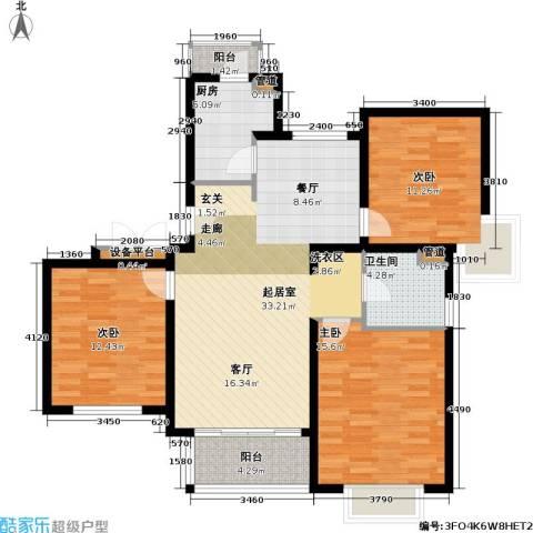 新梅共和城一期3室0厅1卫1厨101.00㎡户型图
