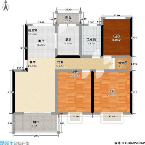 当代高邸三期3室0厅1卫1厨100.00㎡户型图