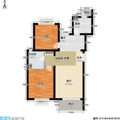 新梅共和城一期2室0厅1卫1厨107.00㎡户型图