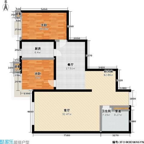 未来上层(恋日上层)2室0厅1卫1厨117.00㎡户型图