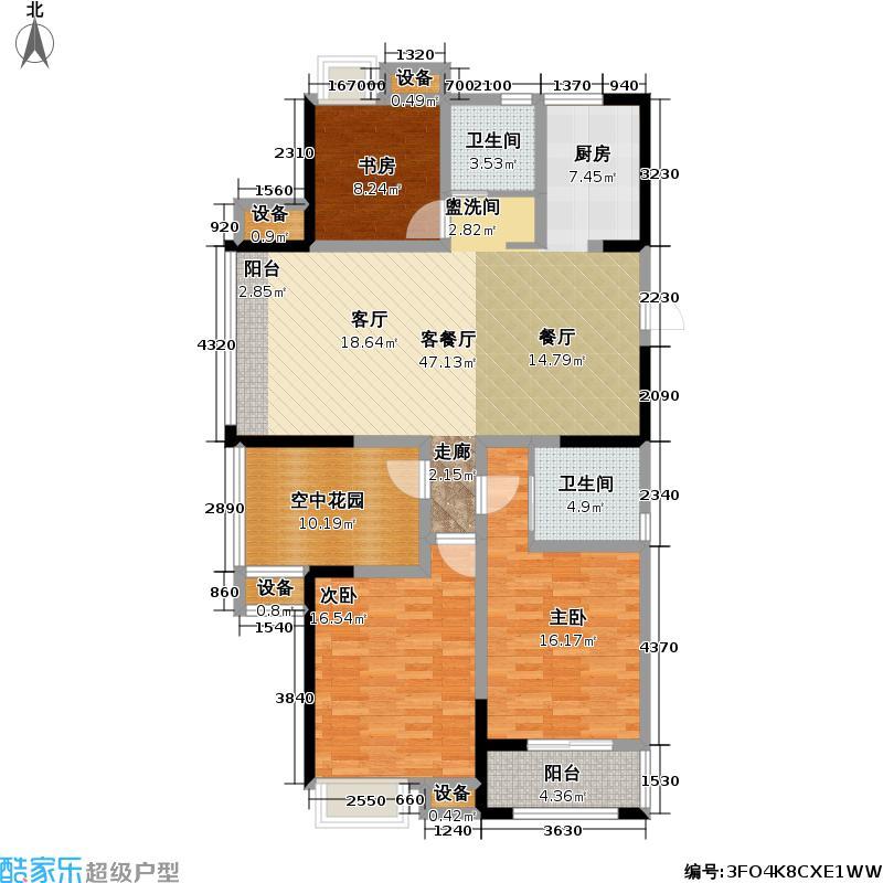 常发永宁雅苑户型3室1厅2卫