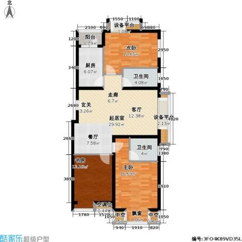 丽港・美度3室0厅2卫1厨133.00㎡户型图
