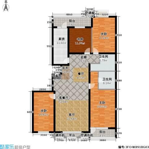 金港国际公寓(三期)4室1厅2卫1厨228.00㎡户型图