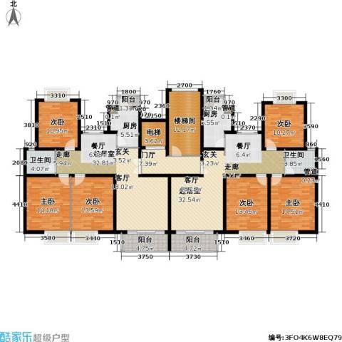 新梅共和城一期6室0厅2卫2厨197.02㎡户型图