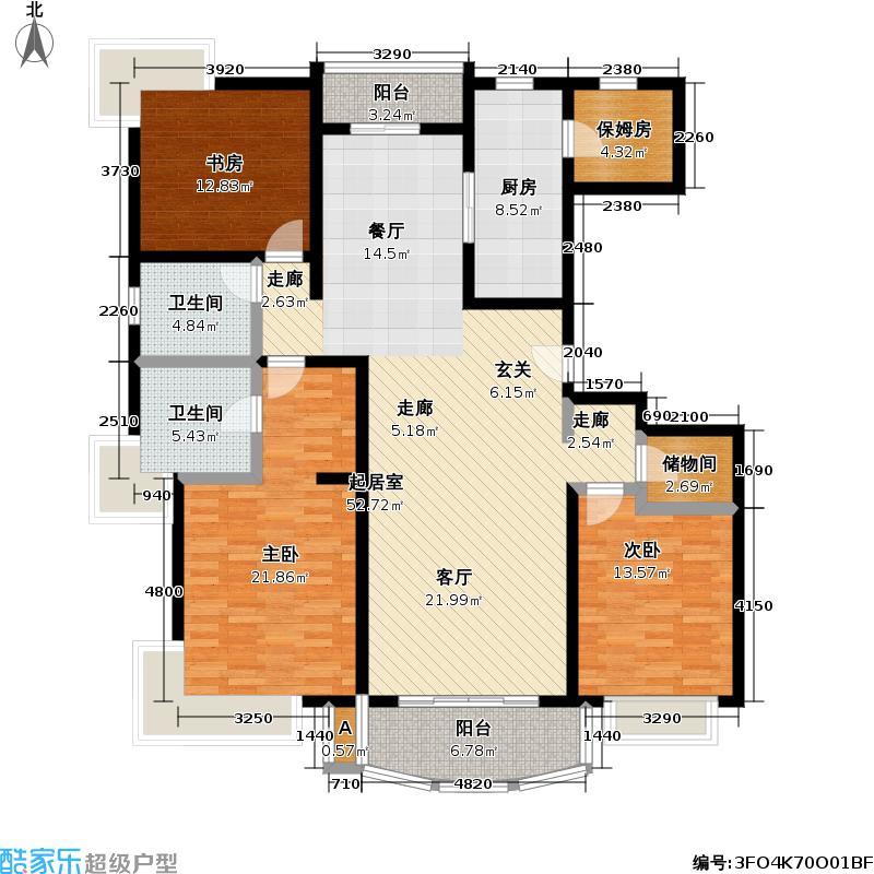 浦东虹桥公寓一期160.00㎡房型: 四房; 面积段: 160 -180 平方米;户型