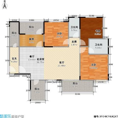 一品名门云墅3室0厅2卫1厨149.00㎡户型图