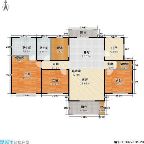 新凤凰城一期3室0厅2卫1厨130.00㎡户型图