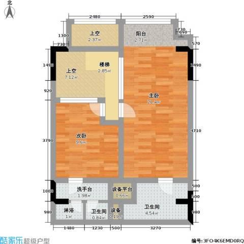 漕湖之星2室0厅2卫0厨60.00㎡户型图