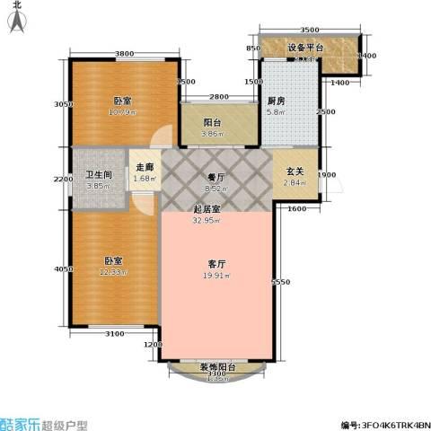 润德北京公园1卫1厨89.00㎡户型图