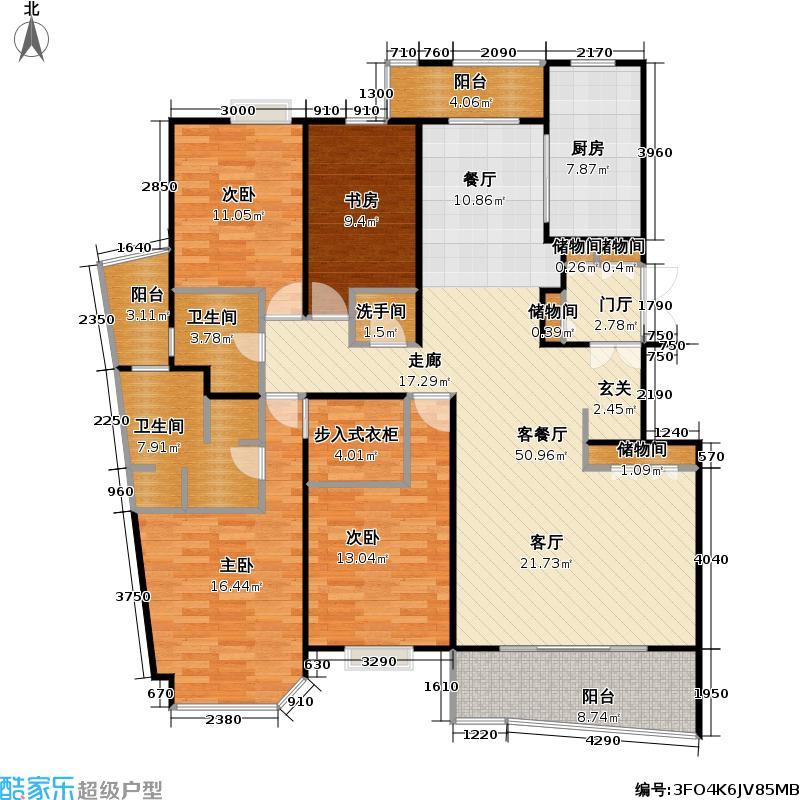金樽花园160.00㎡房型: 四房; 面积段: 160 -380 平方米;户型